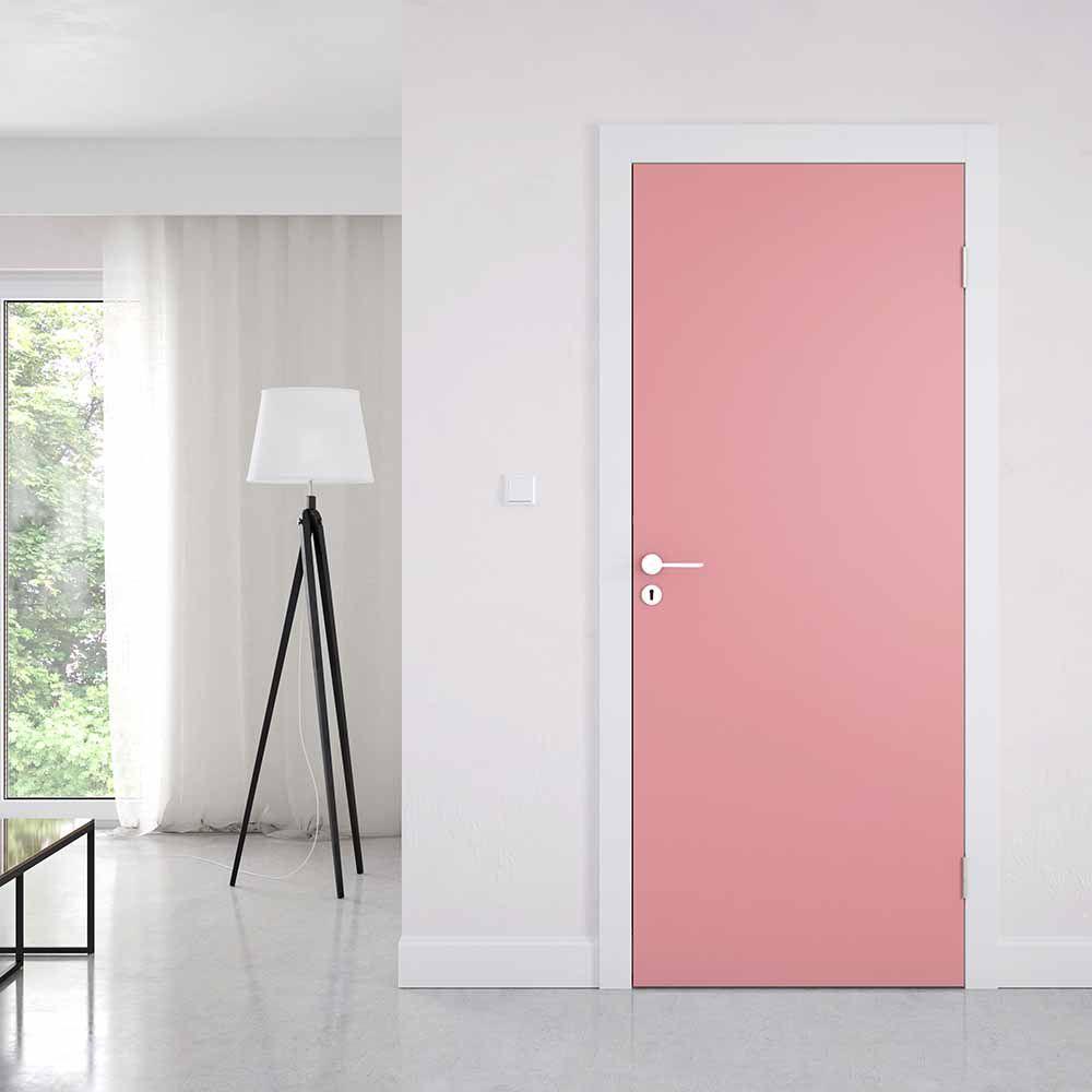 Adesivo de Porta Rosa Escuro