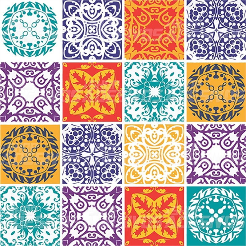 Adesivo de Azulejo Círculos Coloridos