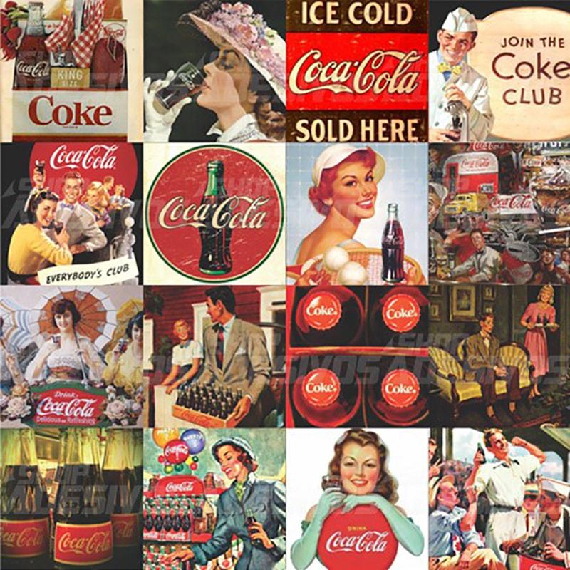 Adesivo De Kart ~ Adesivo Decorativo de Azulejo de Cozinha Coca Cola Vintage