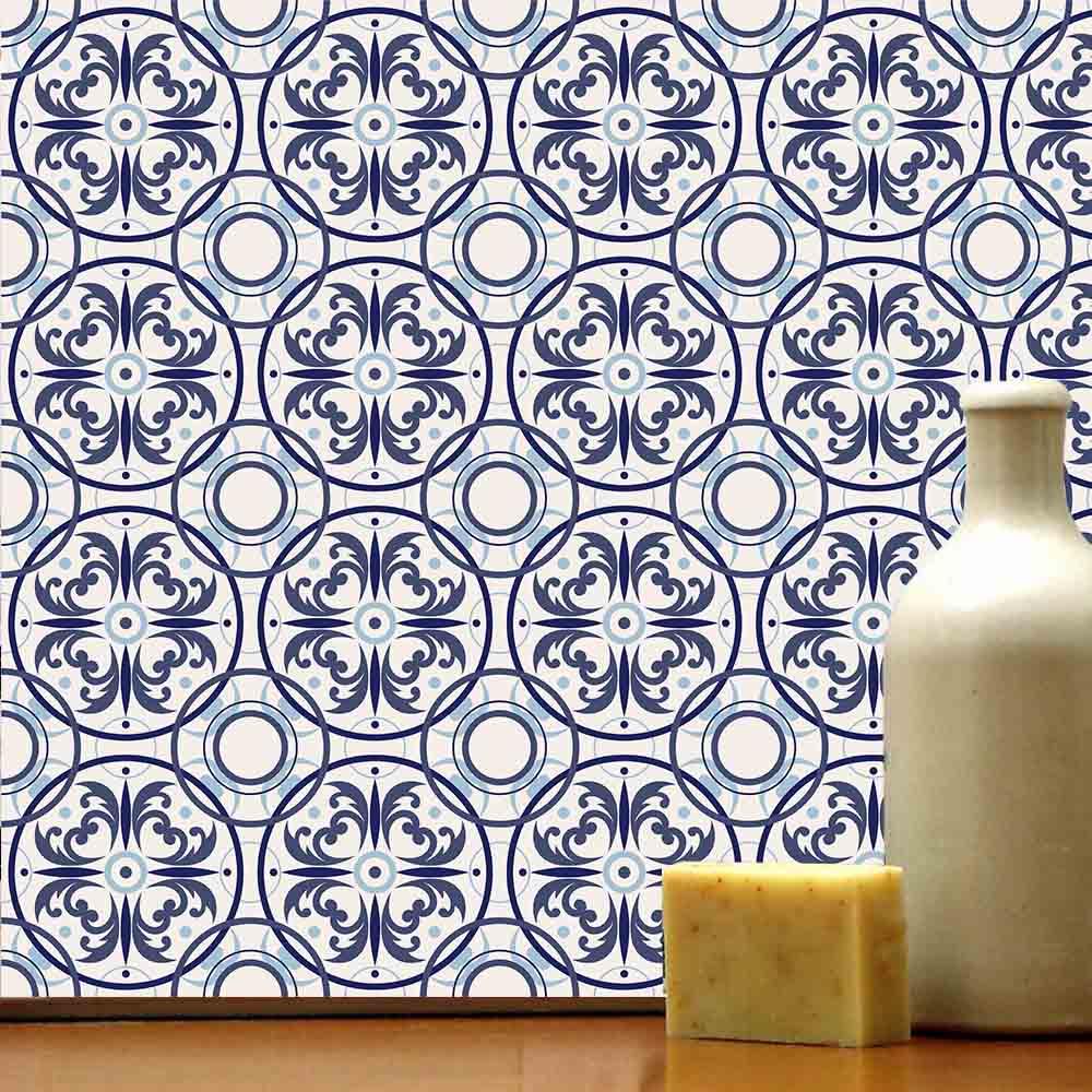 Adesivo de Azulejo Desenhos Azuis