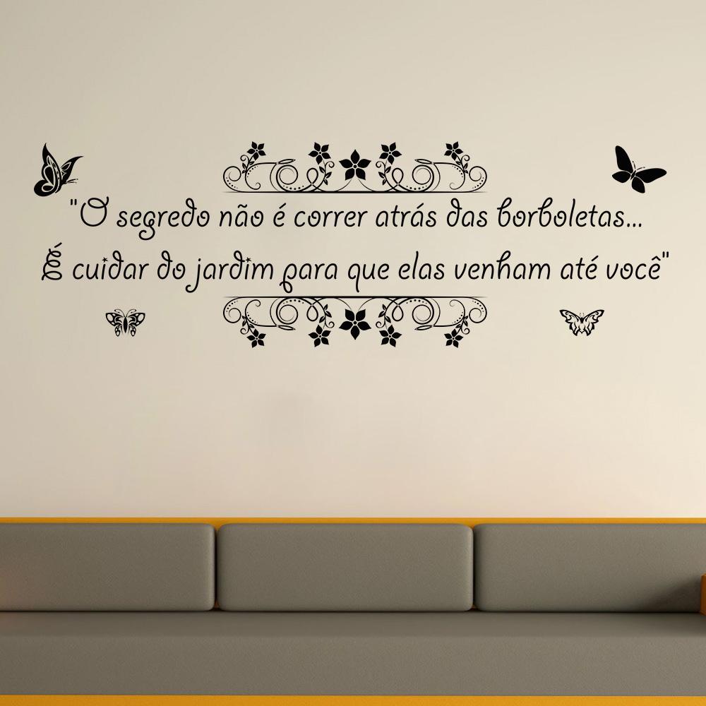 Adesivo de Parede Frase Borboletas