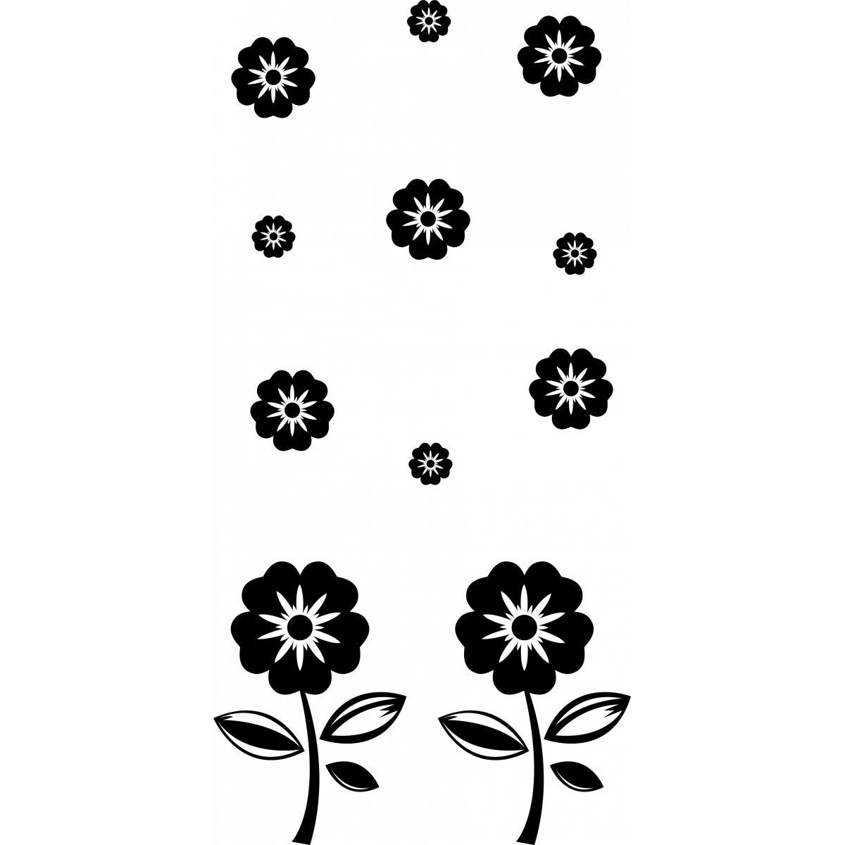 Adesivo de Box Flores