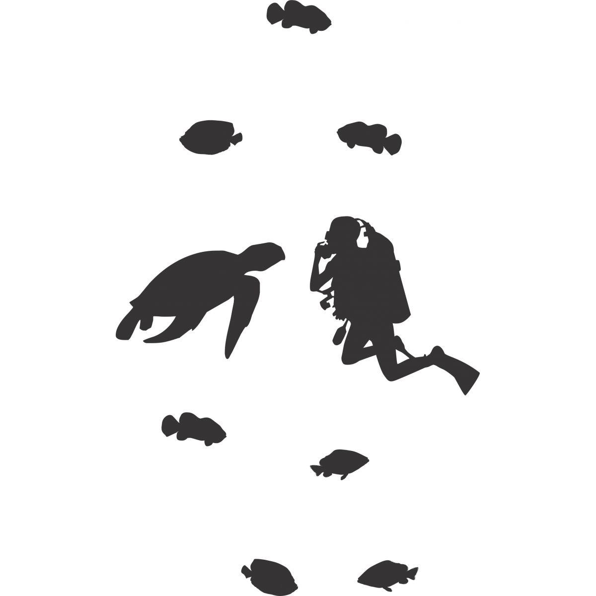 Adesivo de Box Mergulhador