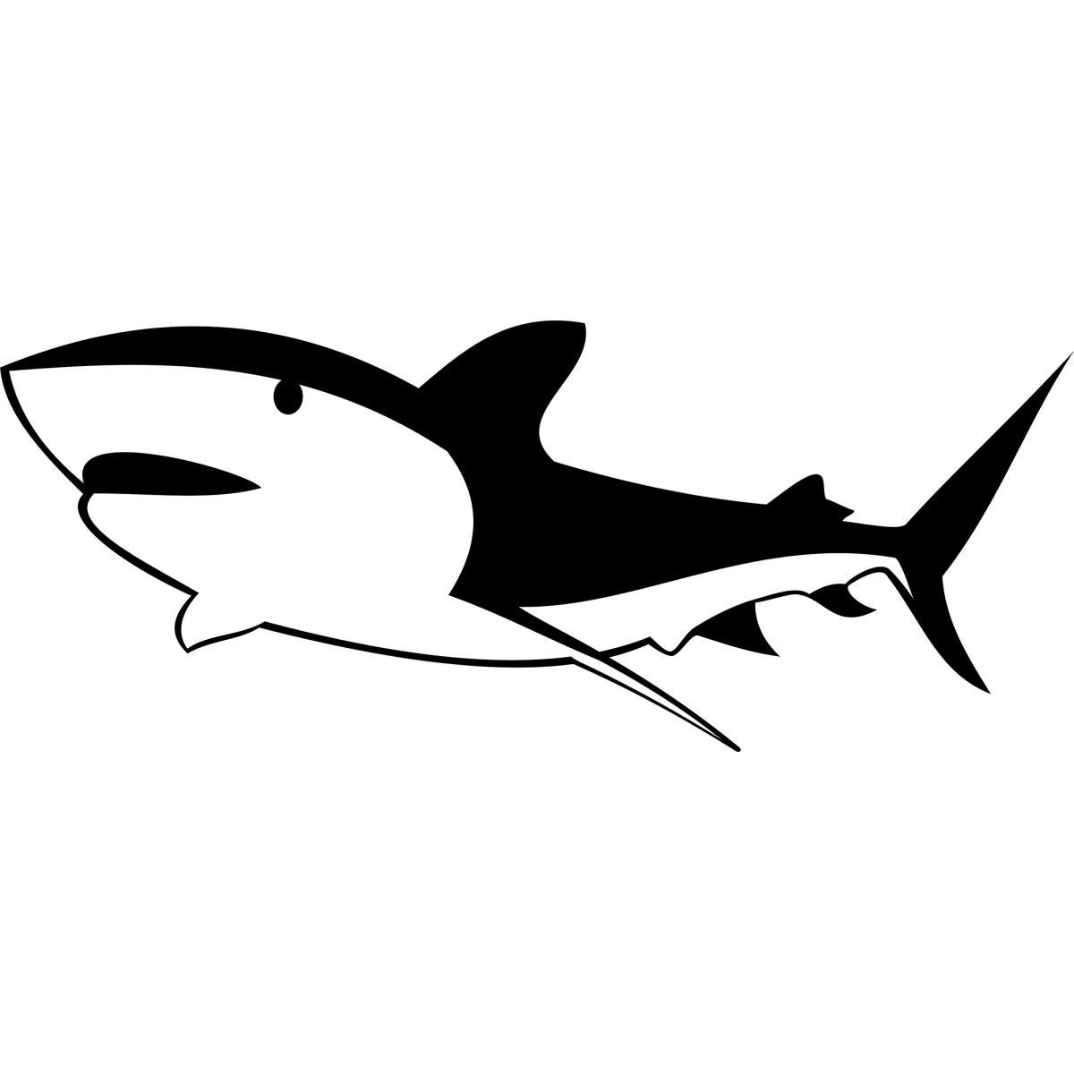 Adesivo de Box Tubarão