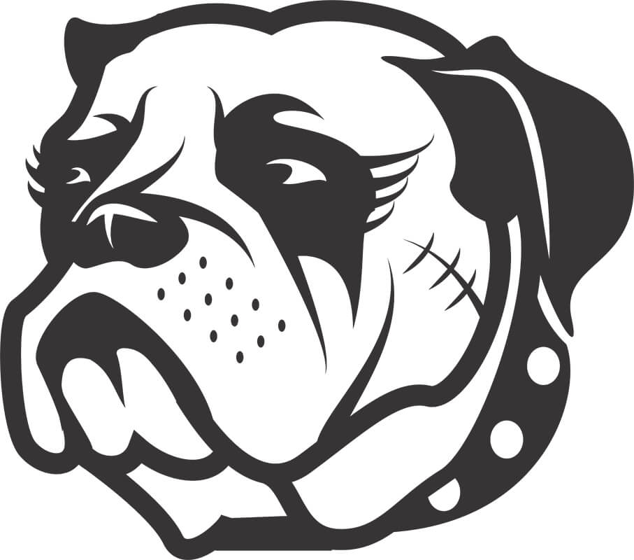 Adesivo de Parede Cachorro Bulldog