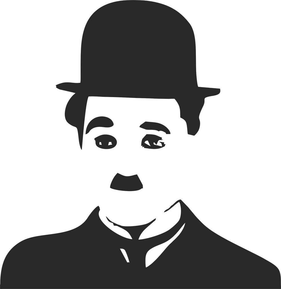 Adesivo de Parede Charlie Chaplin Rosto