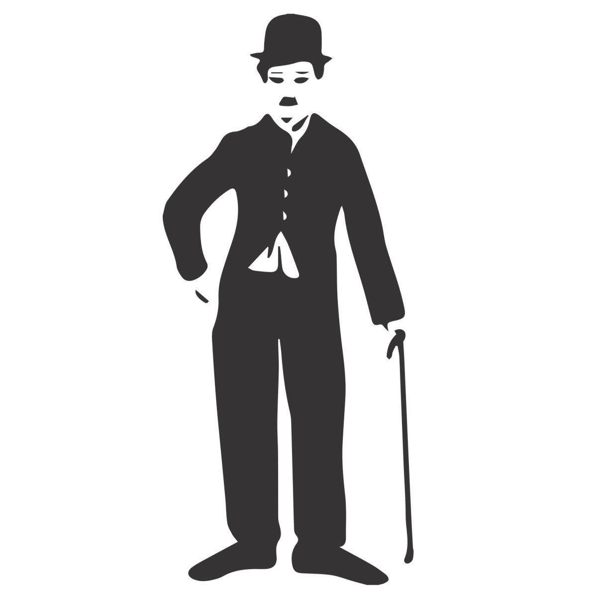 Adesivo de Parede  Charlie Chaplin