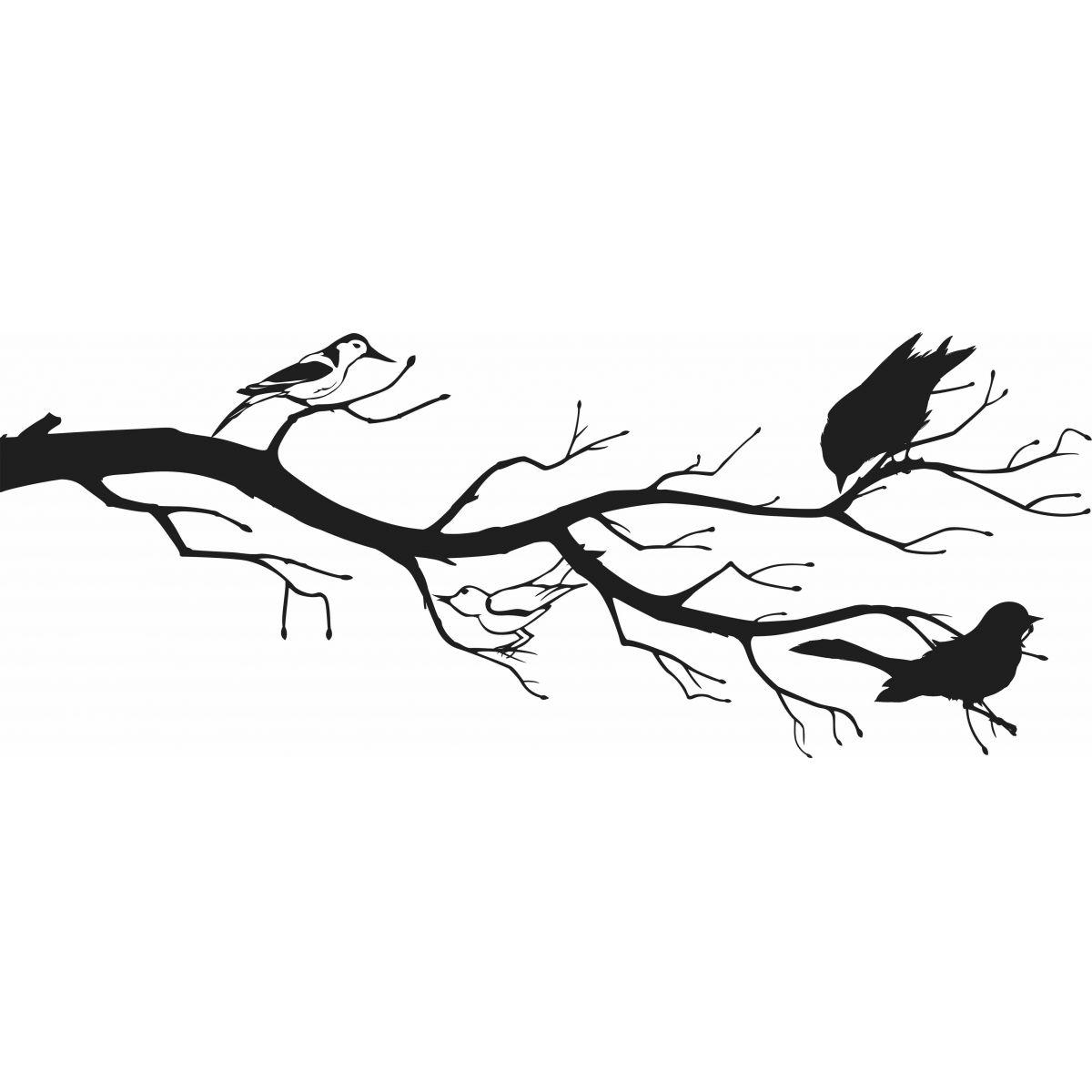 Adesivo de Parede Galhos com Pássaros