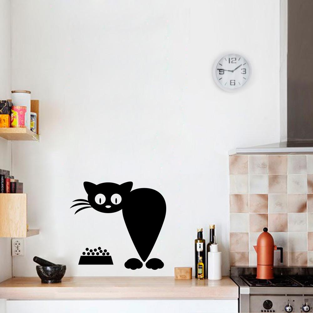 Adesivo Porta De Banheiro ~ Adesivo Decorativo de Parede Gato 3 SHOP ADESIVOS