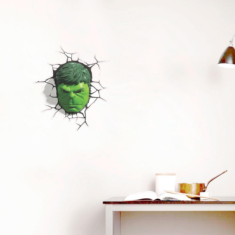 Adesivo de Parede Buraco Cabeça Hulk