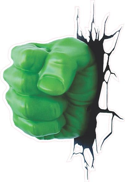 Adesivo de Parede Mão do Hulk