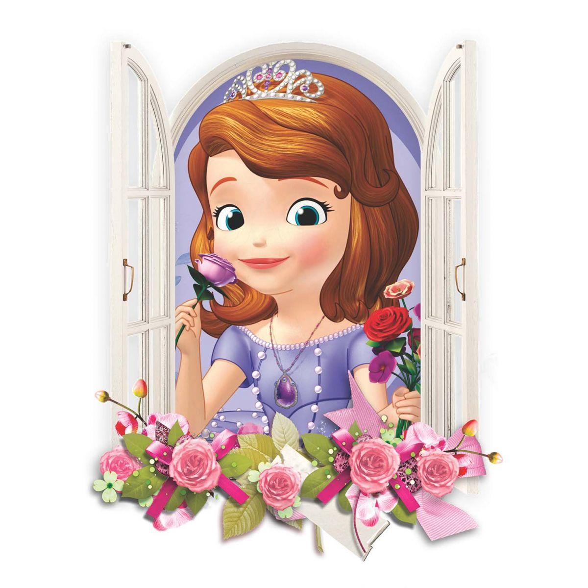 Adesivo de Parede Janela Princesa Sofia