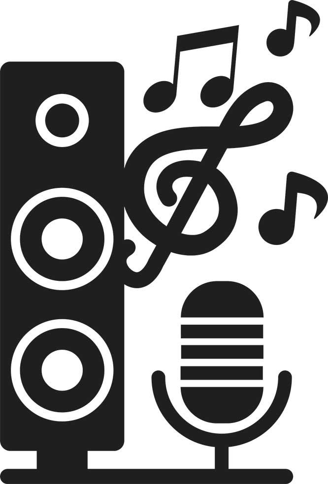 Adesivo de Parede Música Microfone