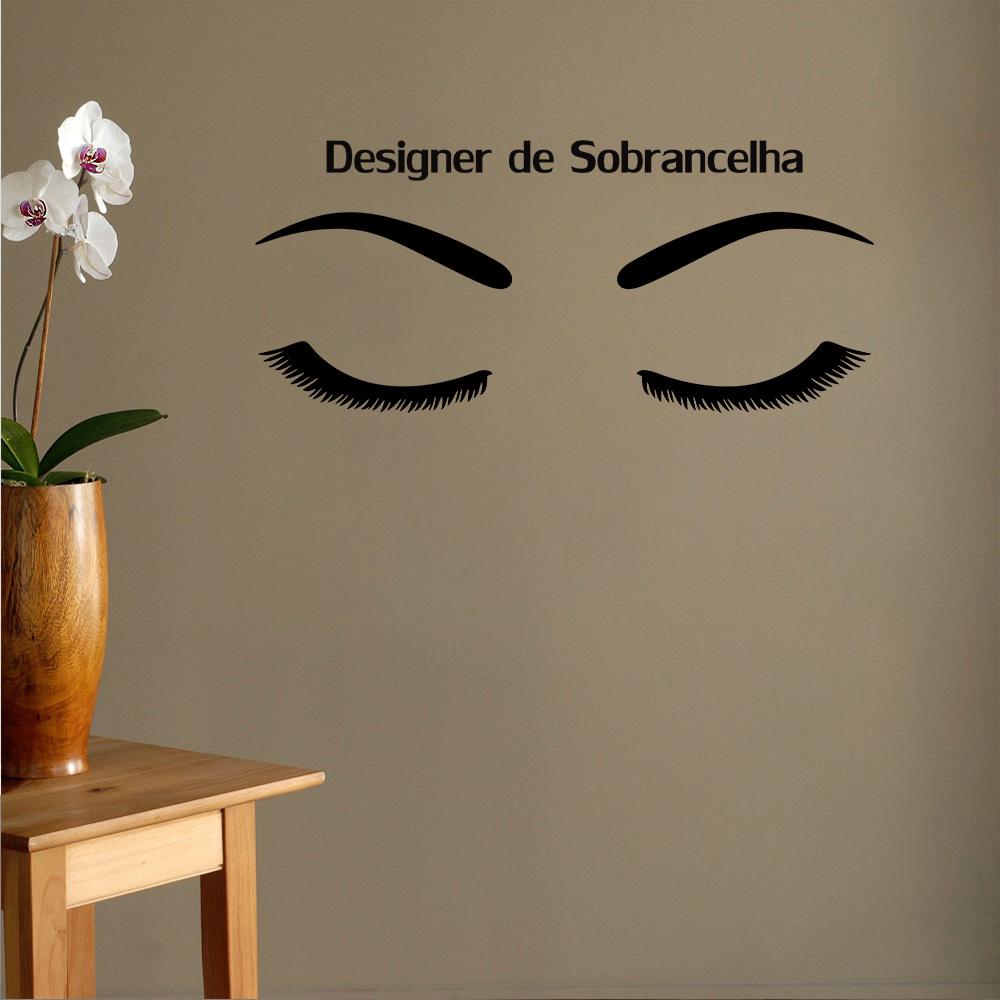 Sala Para Designer De Sobrancelha No Mercado Livre Brasil -> Adesivo De Parede Estetica