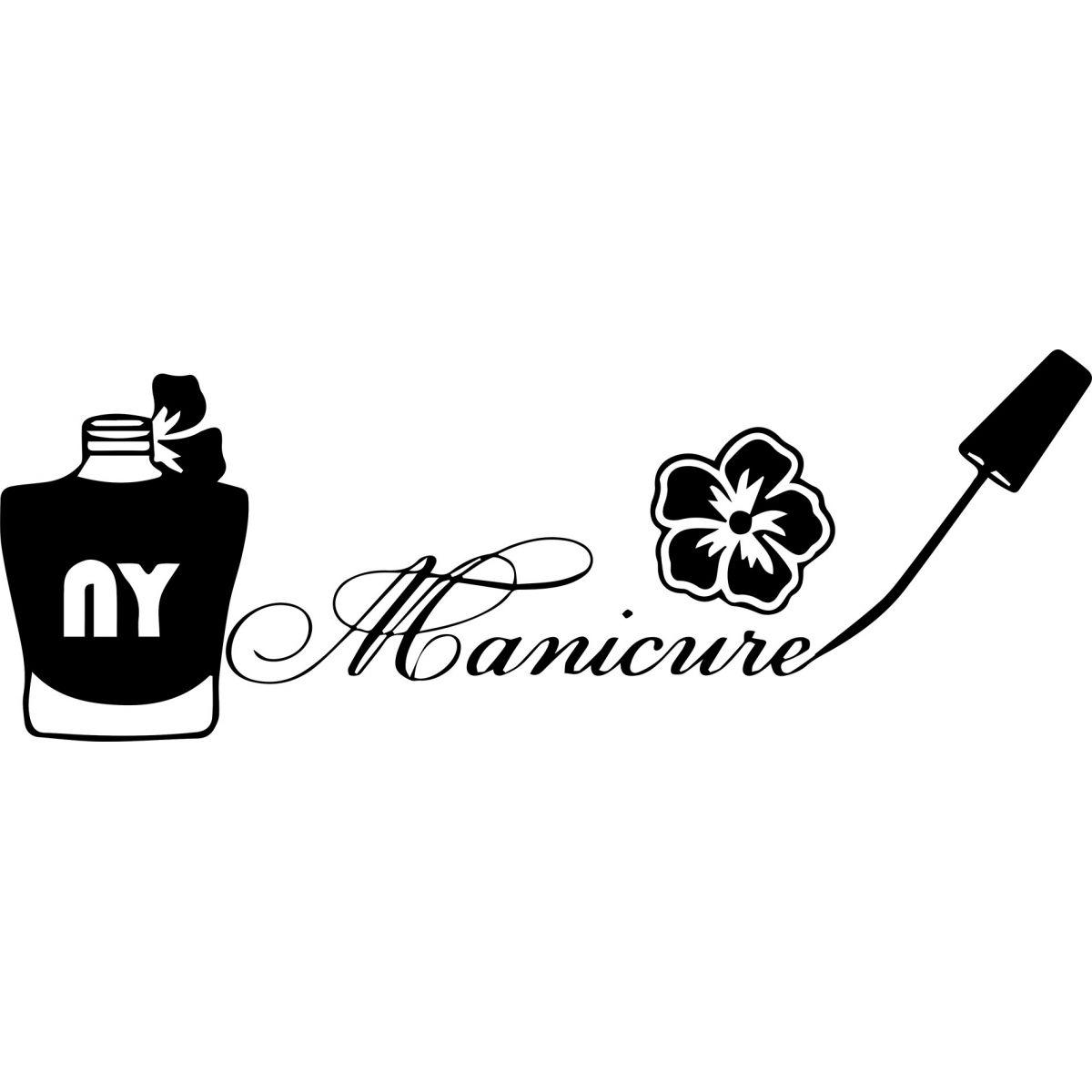 Adesivo de Parede Profissões Manicure Esmalte