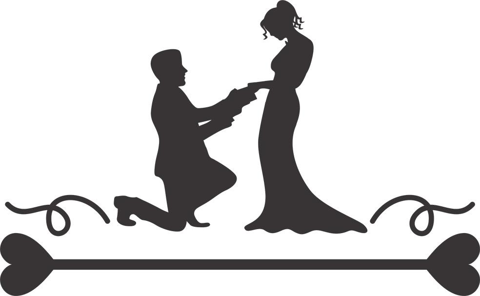 Adesivo de Parede Casal Romântico
