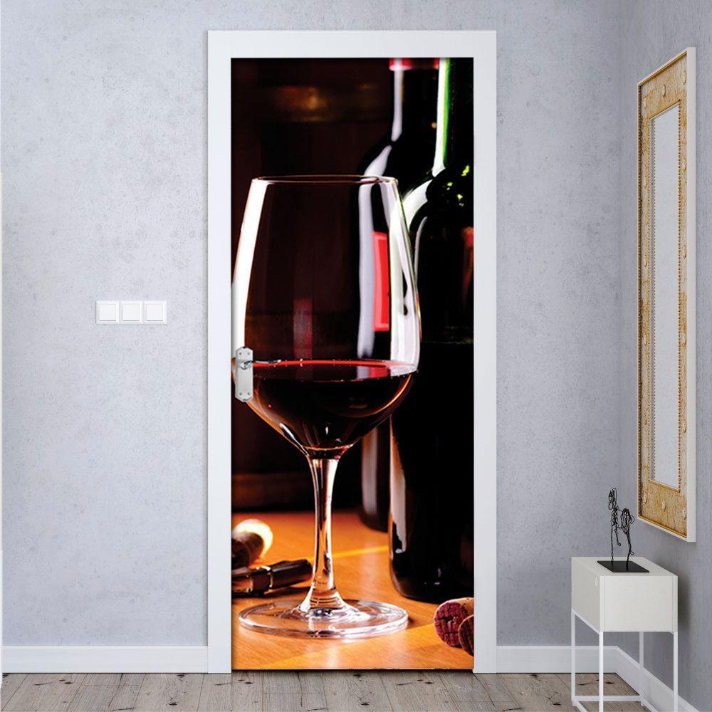 Adesivo de Porta Taça de Vinho
