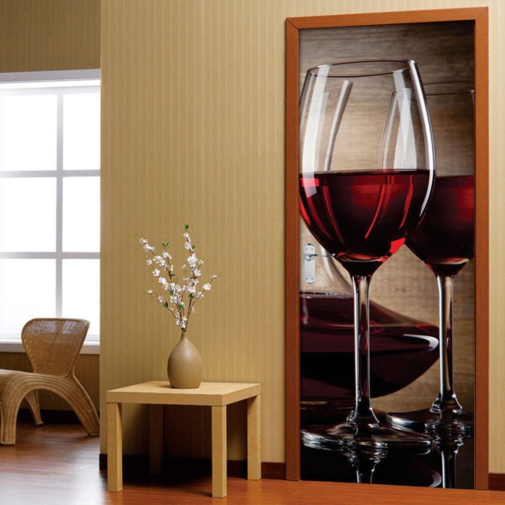 Adesivo de Porta Vinho no Espelho