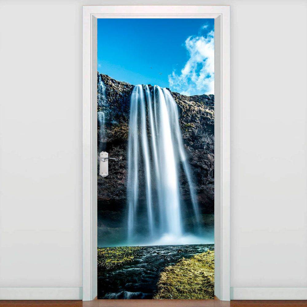 Adesivo para Porta Cachoeira Céu Azul