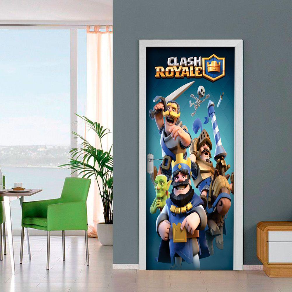Adesivo de Porta Clash Royale Game