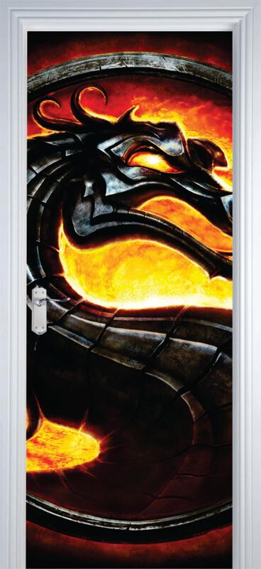 Aparador Antiguo Pintado ~ Adesivo Decorativo de Porta Mortal Kombat 2