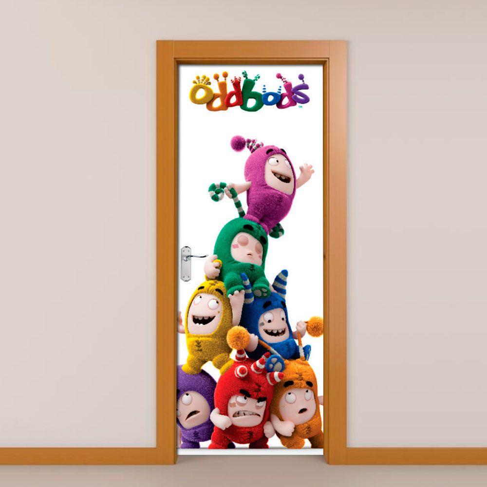 Adesivo de Porta Oddbods