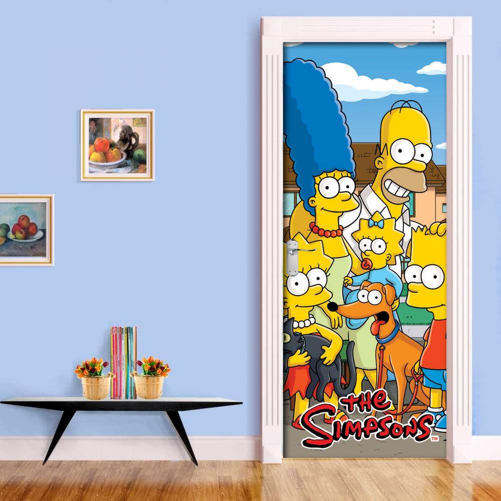 Adesivo de Porta Simpsons Personagens