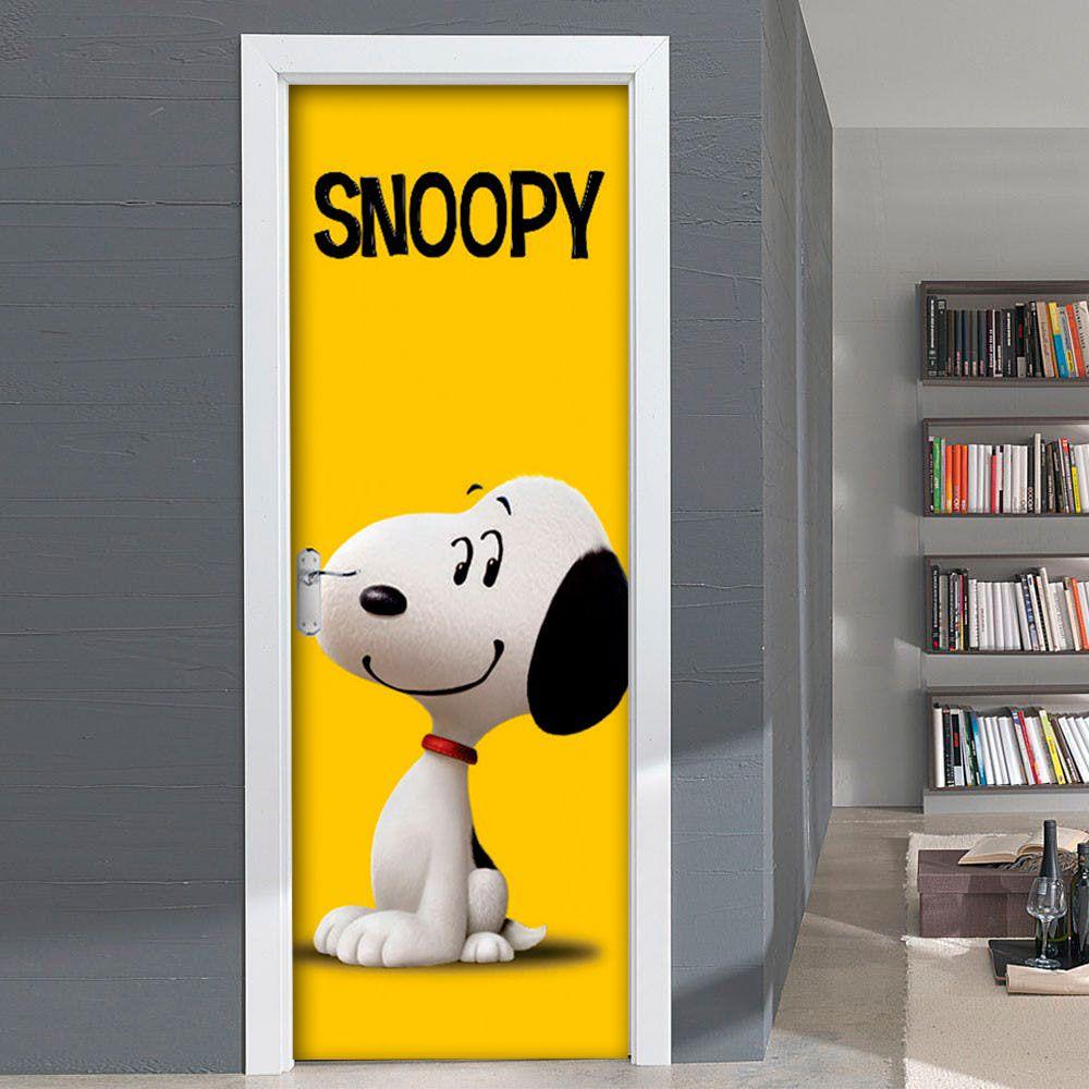 Adesivo de Porta Snoopy Sorrindo