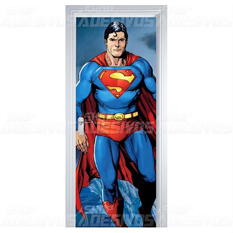Adesivo de Porta Superman Super Homem