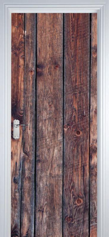 Adesivo de Porta Madeira Escura Textura