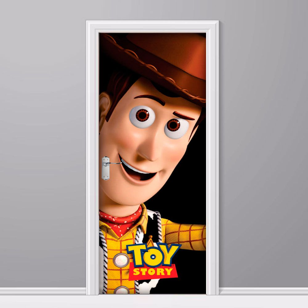 Adesivo de Porta Toy Story Woody