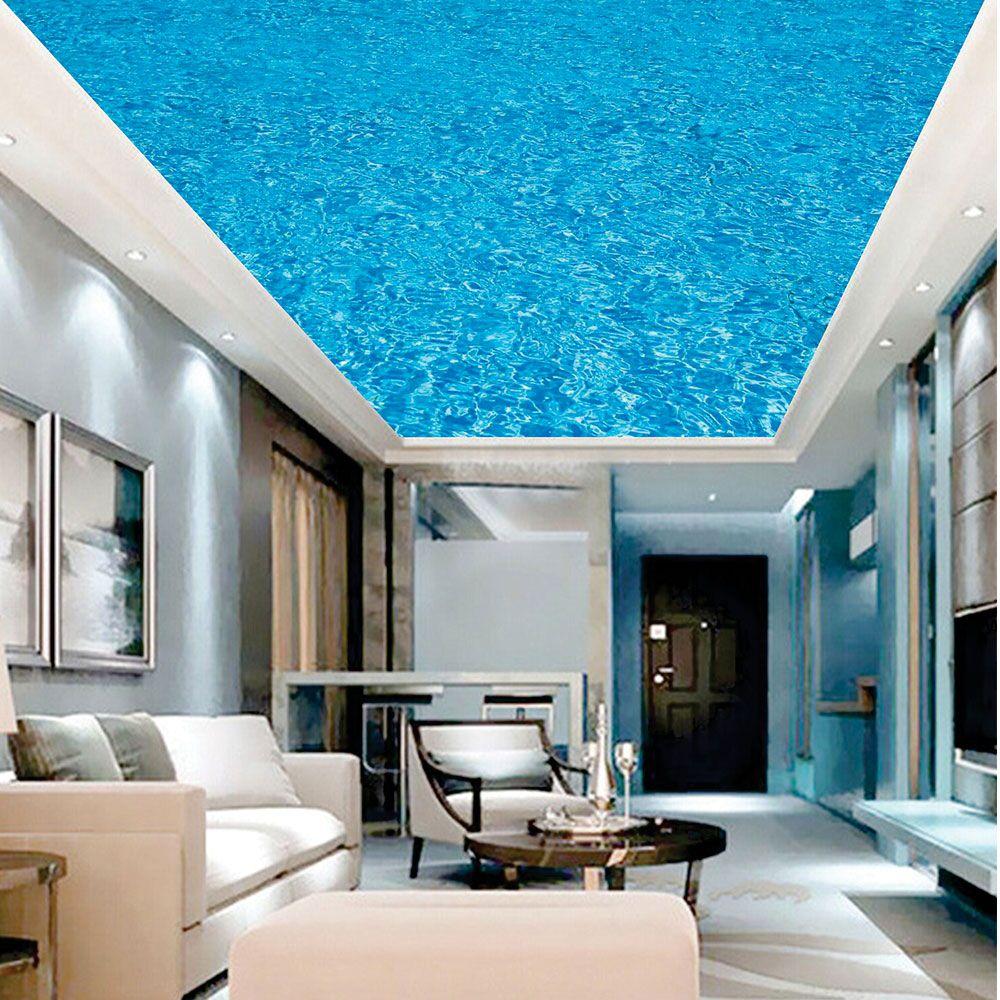 Adesivo Decorativo de Teto Água Azul
