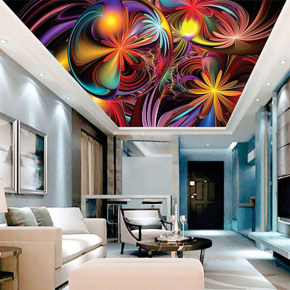 Adesivo Decorativo de Teto Bolhas Coloridas
