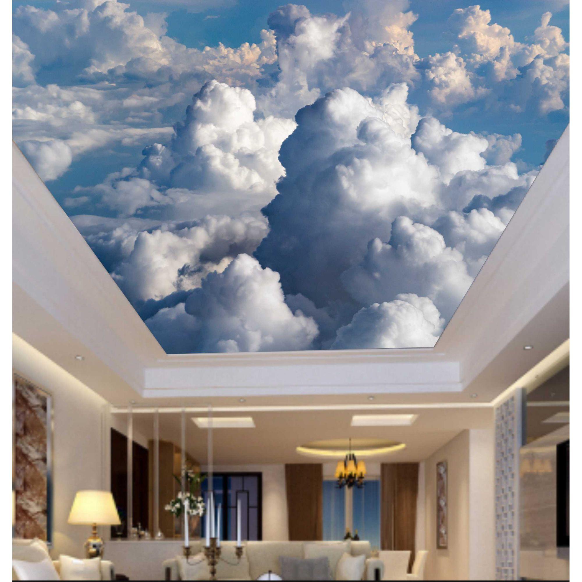 Adesivo Decorativo de Teto Céu com Nuvens