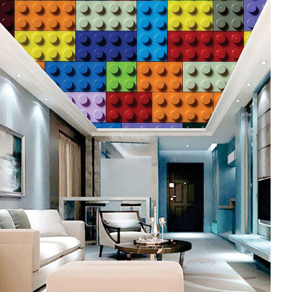 Adesivo Decorativo de Teto Lego Colorido