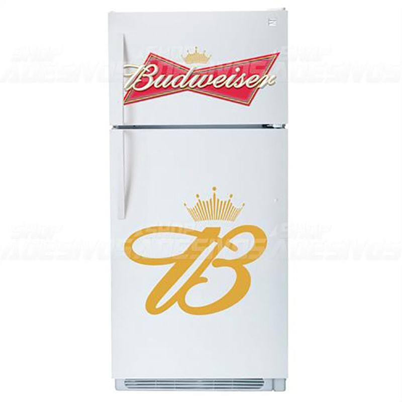 Adesivo de Geladeira  Cerveja Budweiser