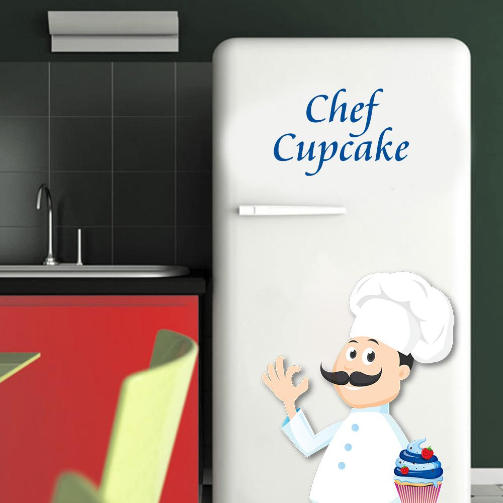 Adesivo de Geladeira Chef Cozinha Cupcake