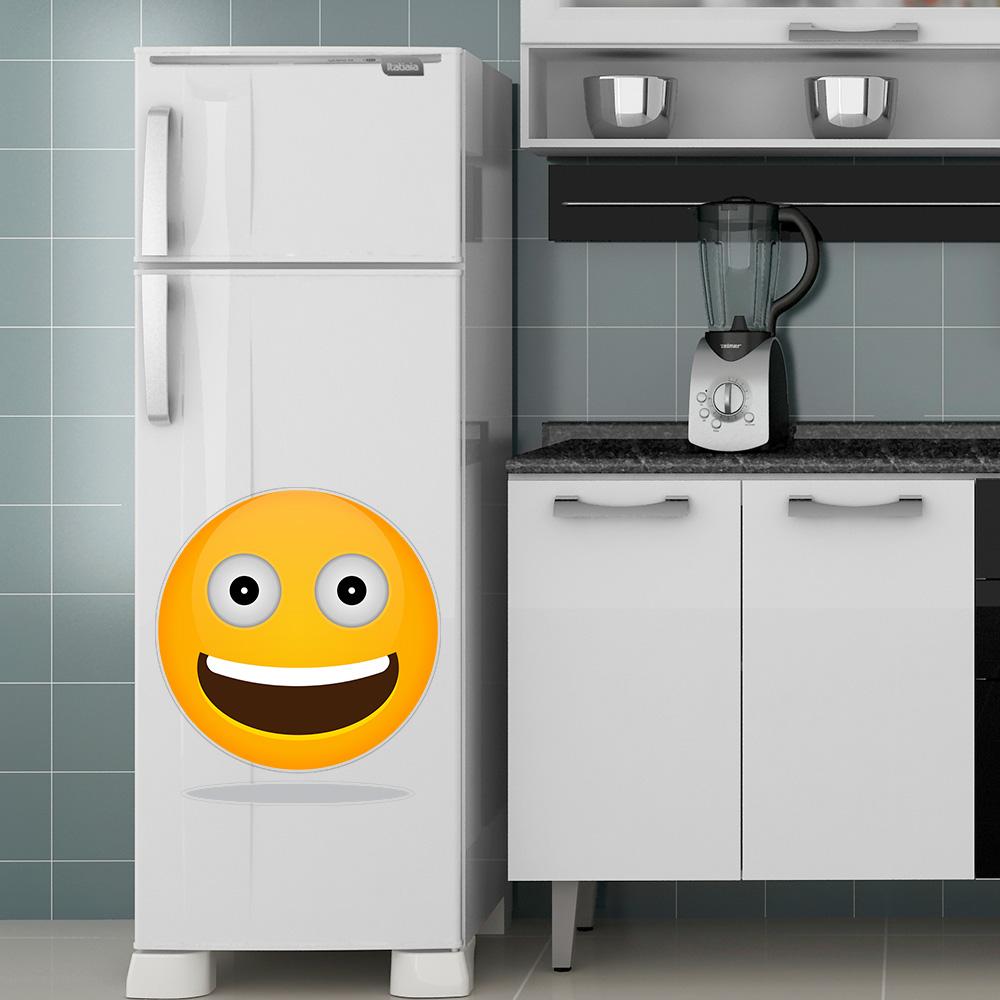 Adesivo de Geladeira Emoji Sorrindo
