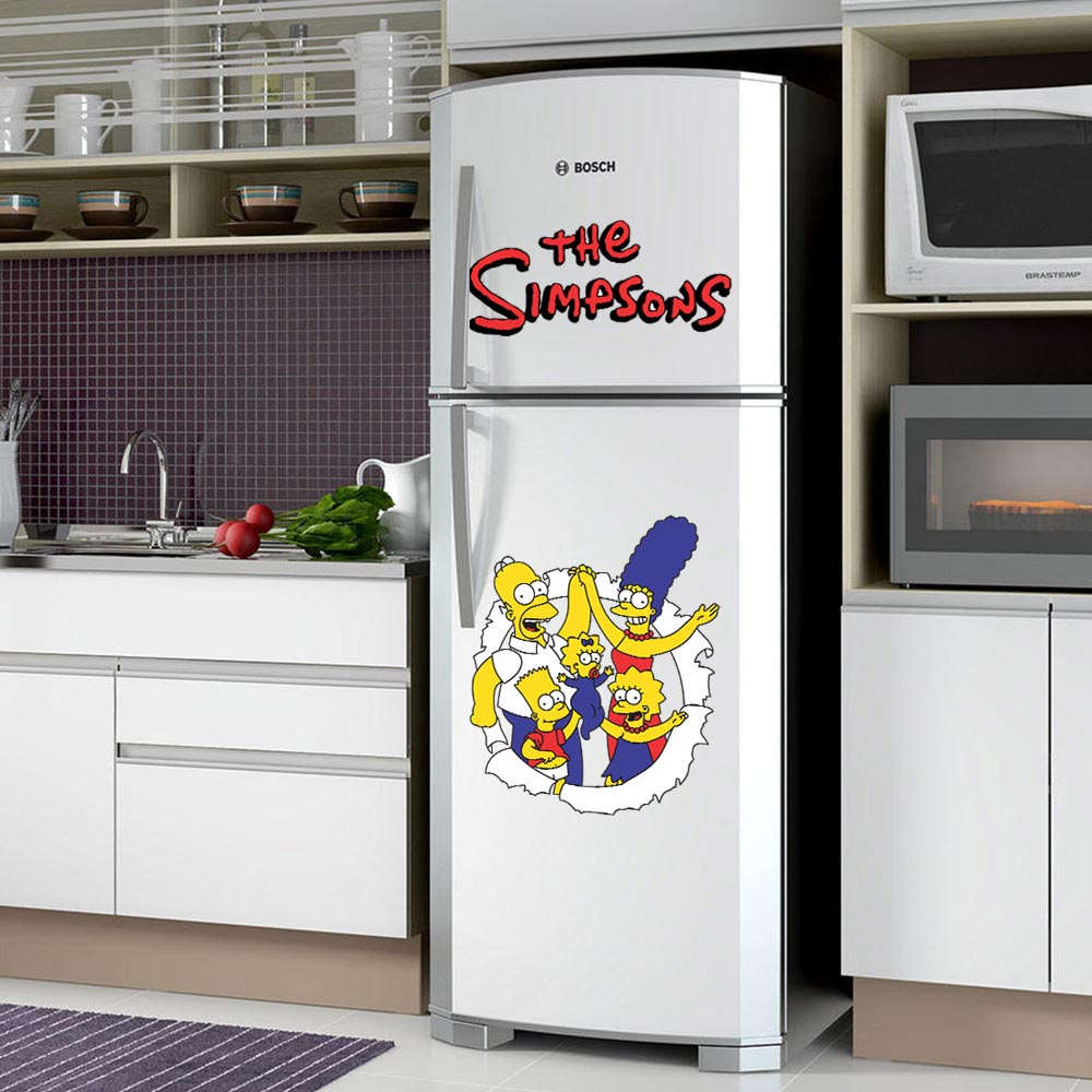 Adesivo de Geladeira  Os Simpsons Personagens
