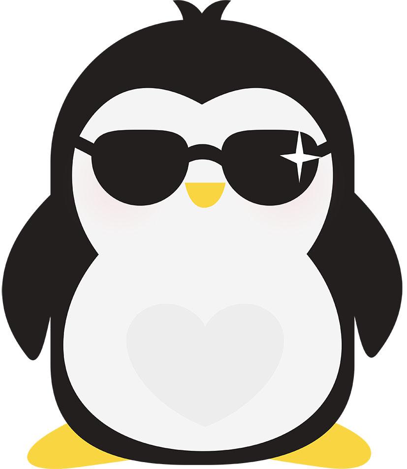 Adesivo de Geladeira Pinguim de Óculos