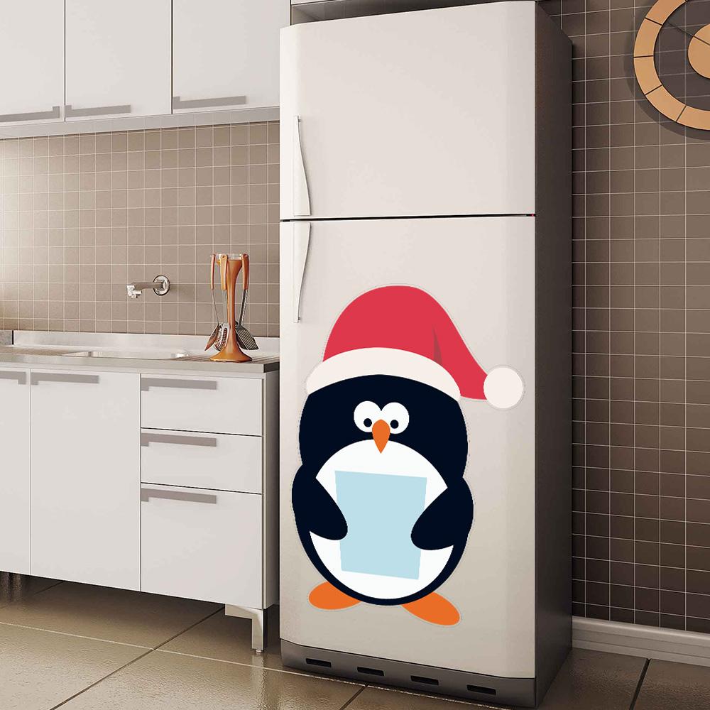 Adesivo de Geladeira Pinguim Natal