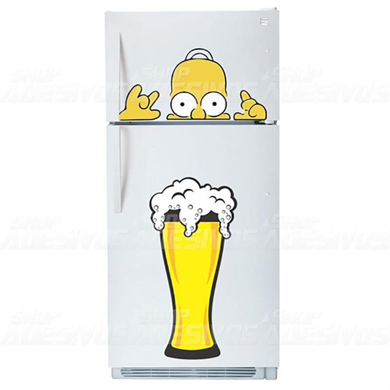Adesivo de Geladeira Simpson Cerveja