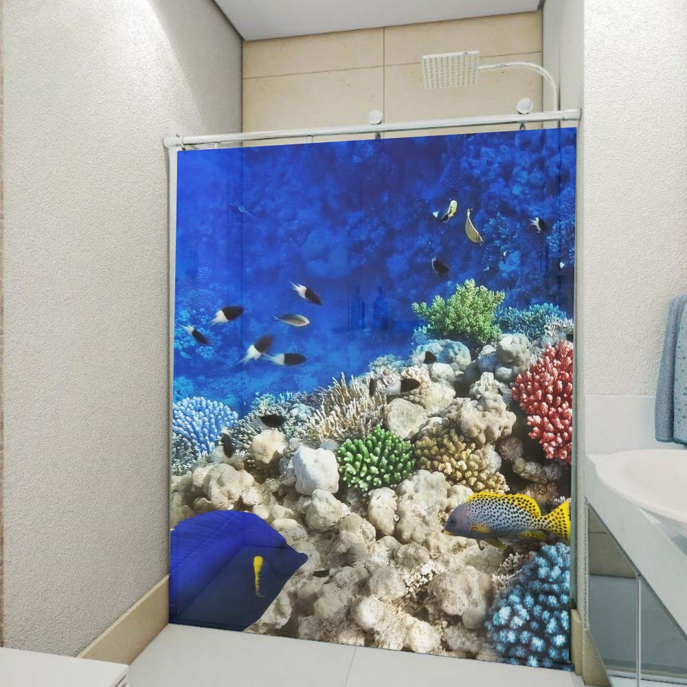 Adesivo de Box Fundo do Mar Azul