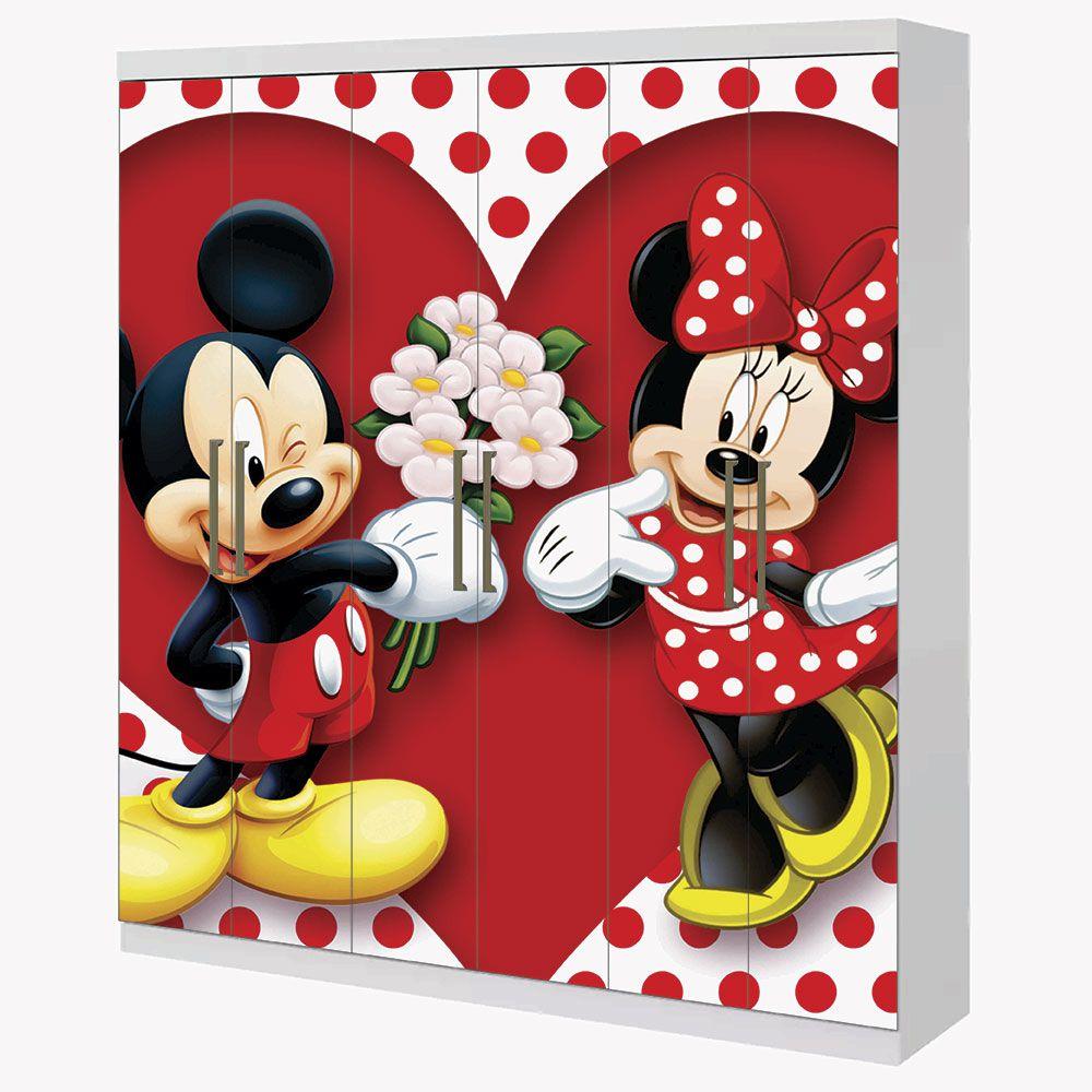 Adesivo Envelopamento Guarda Roupa 2mX2m Mickey e Minnie