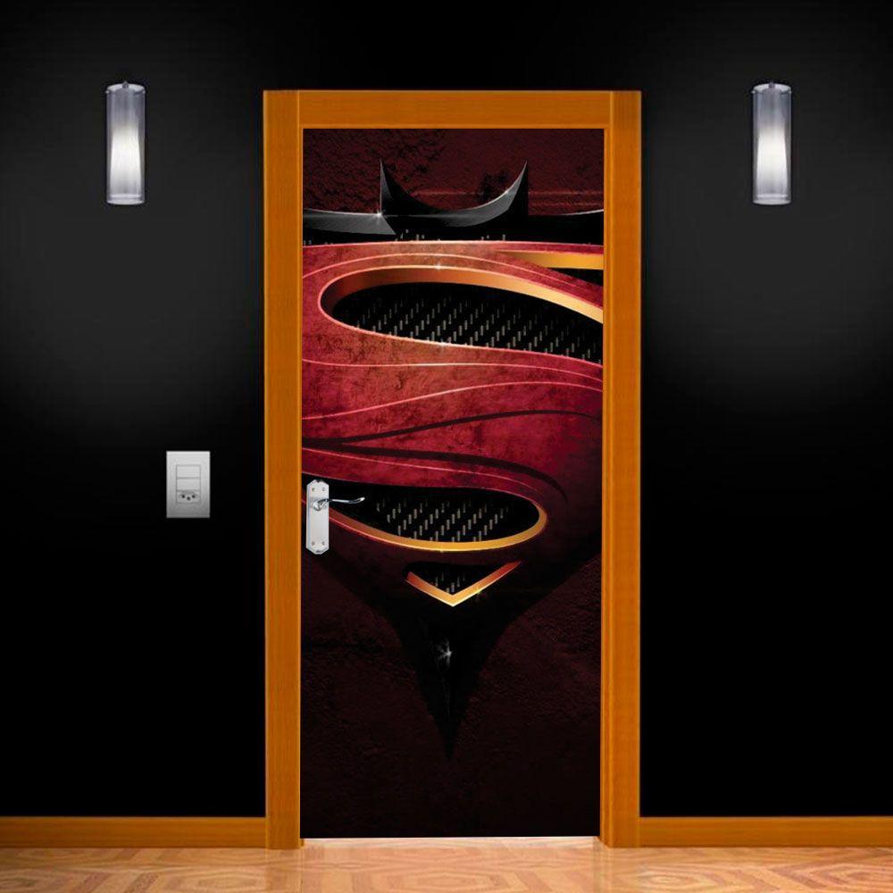 Adesivo para Porta Batman vs Superman Logo