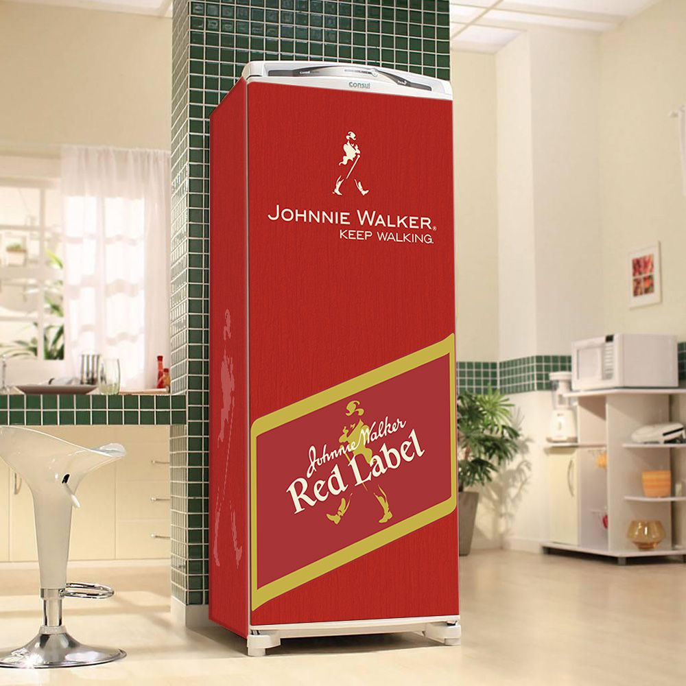 Envelopamento de Geladeira Johnnie Walker Red