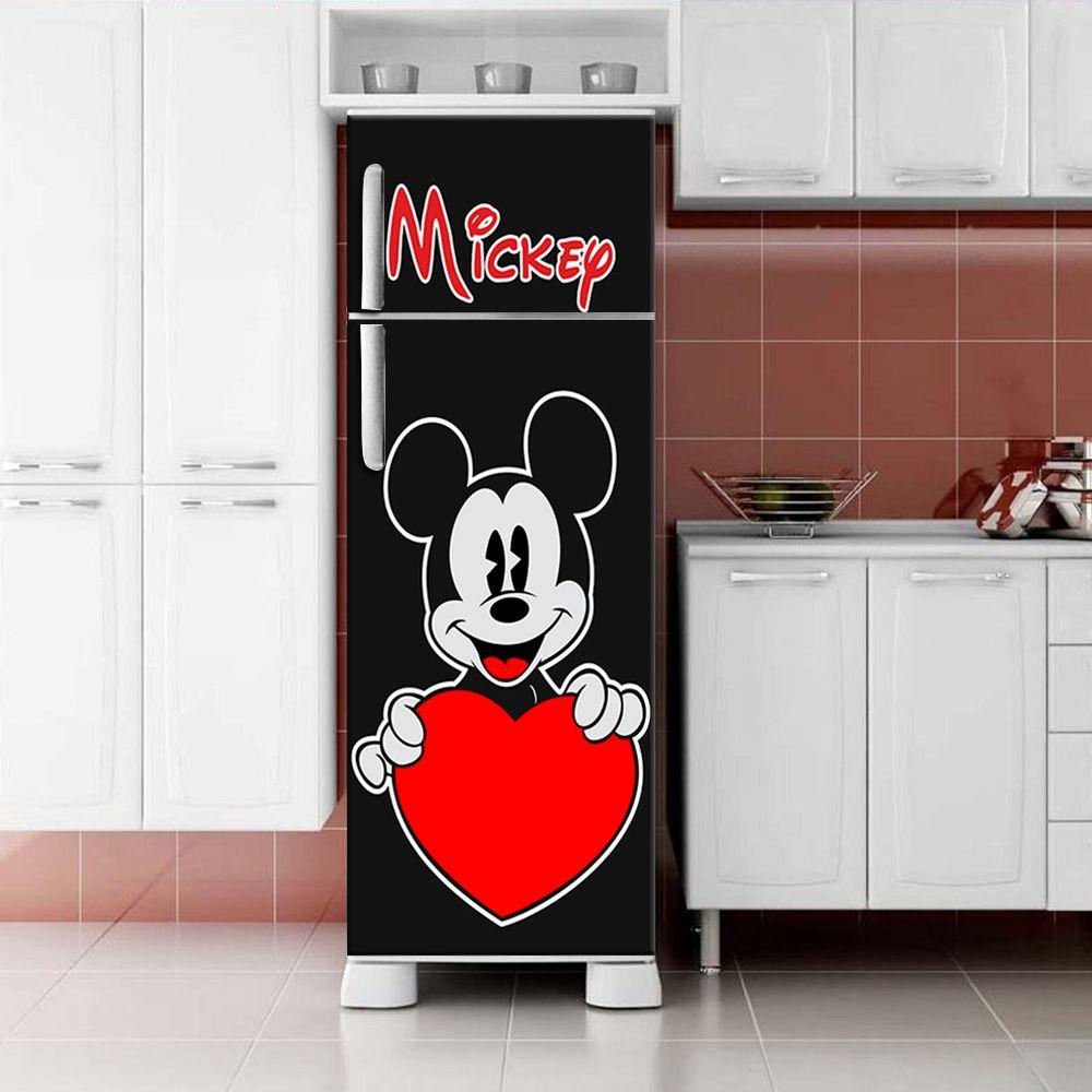 Envelopamento de Geladeira Mickey Mouse