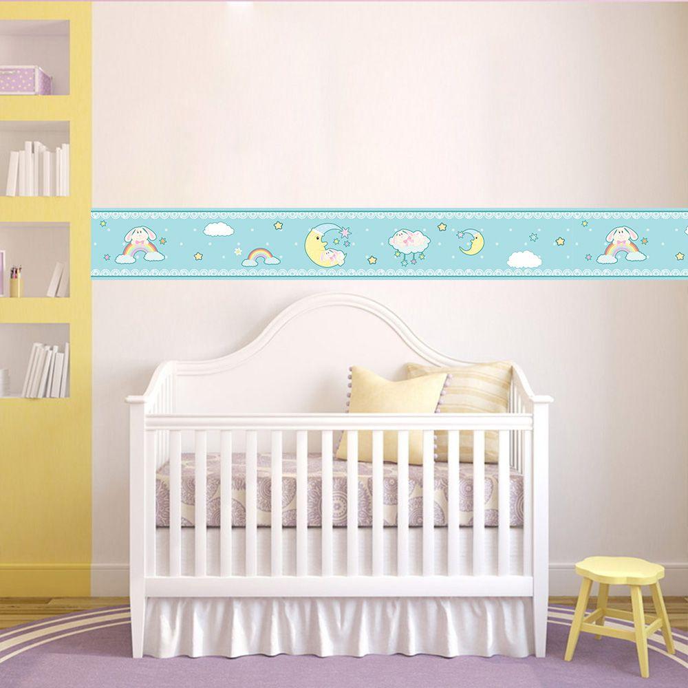 Faixa Infantil Arco Íris Lua Azul