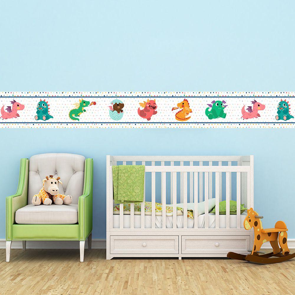 Faixa Infantil Dragões Bebê Verde e Laranja