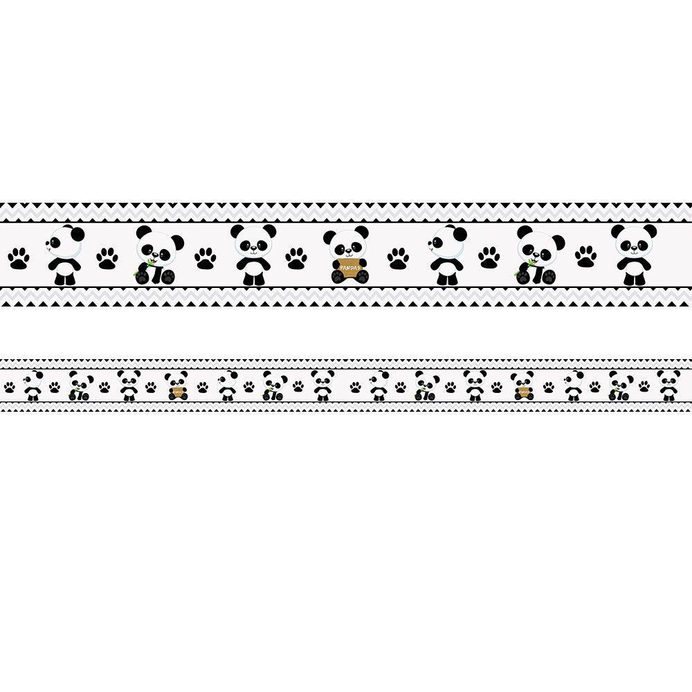 Faixa Infantil Ursinho Panda Preto e Branco
